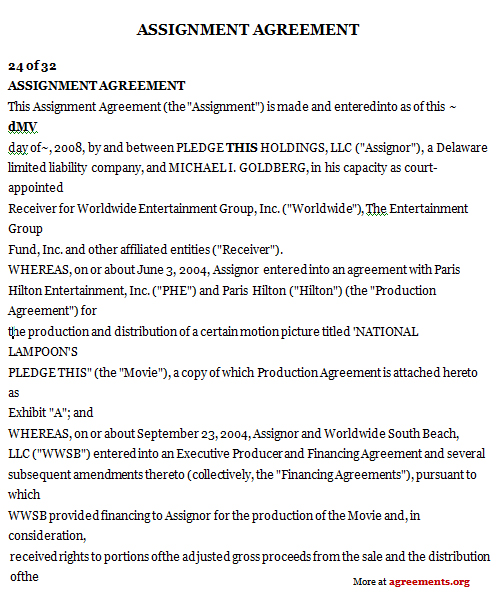 Assignment Agreement Template. Assignment Agreement Forms | Legal