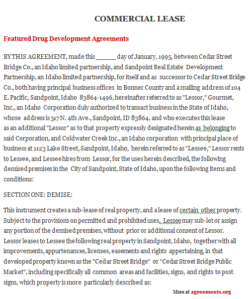 Download Idaho Lease Agreement Template