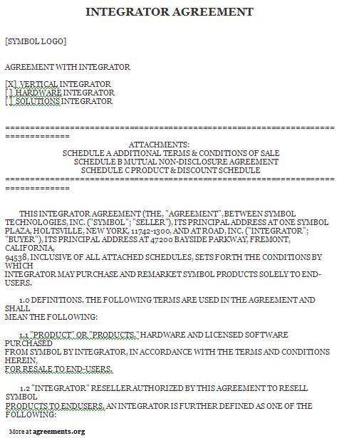 System Integrator Agreement - Download PDF
