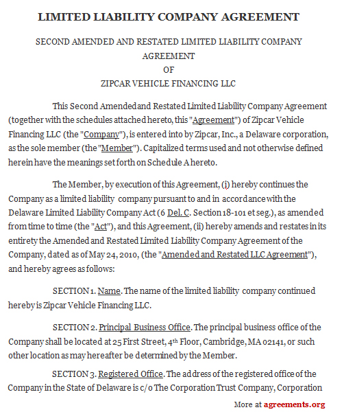 Llc Agreement, Sample Llc Agreement Template | Agreements.Org