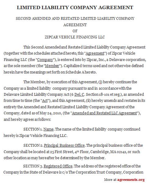 LLC Agreement Template