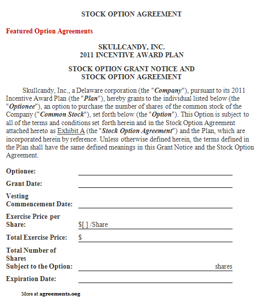 Download Option Agreement Template