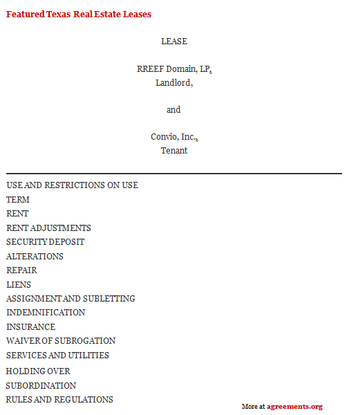 Download Texas Lease AgreementTemplate
