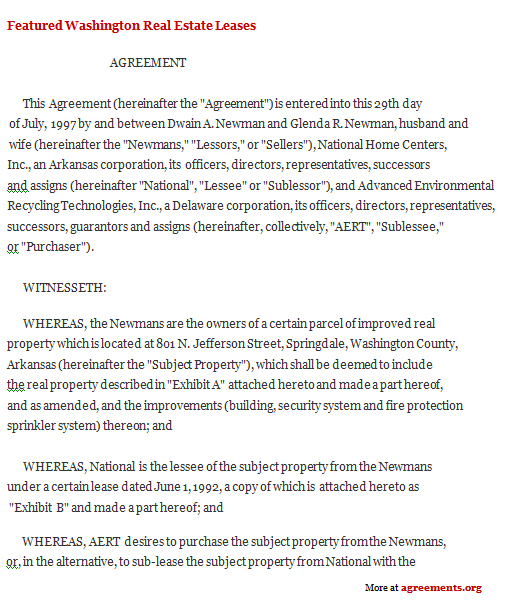 Wisconsin Lease Agreement 99 Year Lease Agreement