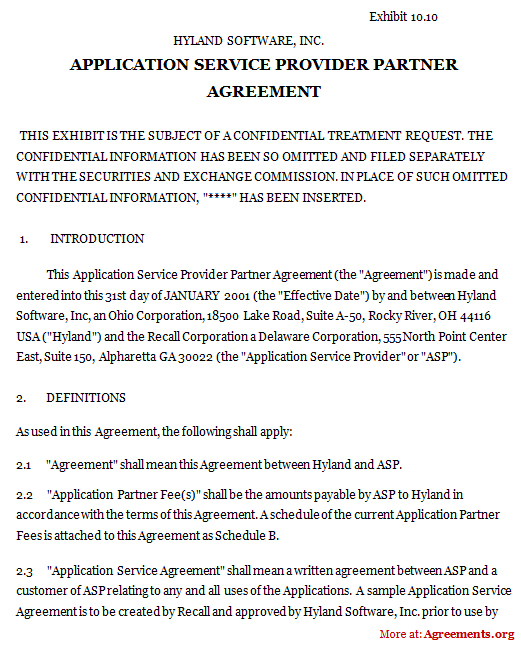 Download asp agreement - PDF