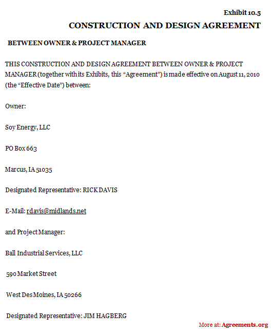 house building contract template - construction and design agreement sample construction and