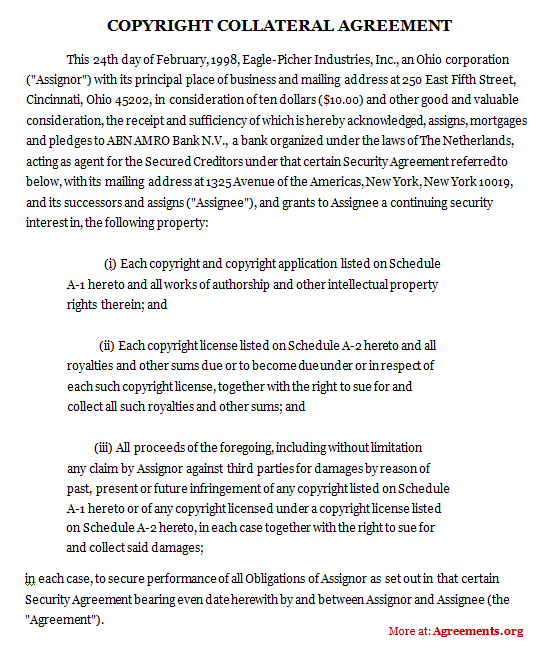 Copyright Collateral Agreement