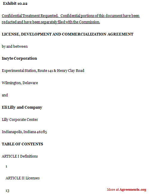 License, Development and Commercialization Agreement