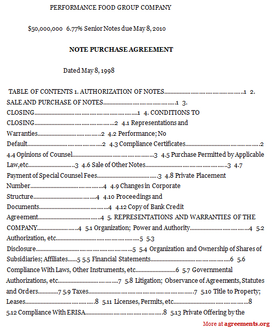 Note Purchase Agreement Sample Note Purchase Agreement – Purchase Agreements