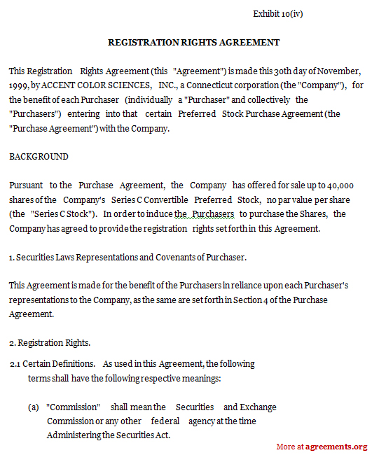 Registration Rights Agreement