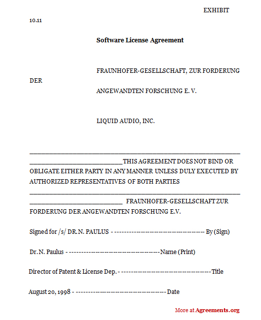 Download Software License Agreement Template