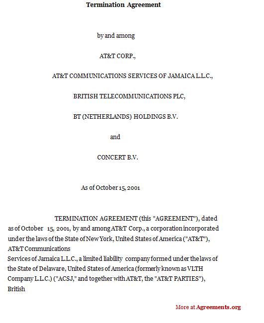 Termination Agreement