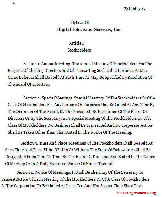 DIGITAL TELEVISION SERVICES Agreement