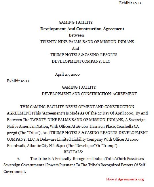 development and construction agreement