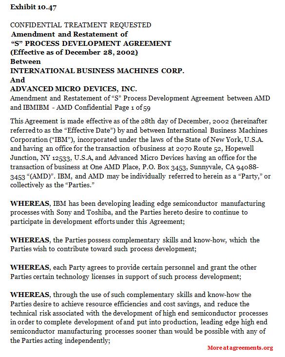 Process Development Agreement
